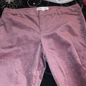 purple velvet pants
